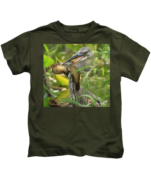 Great Blue Killer Kids T-Shirt by Adam Jewell