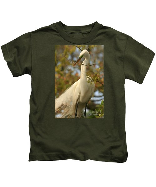 Great Egret Impressions Kids T-Shirt