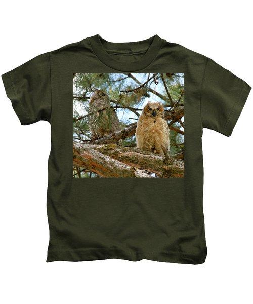 Great Horned Owls Kids T-Shirt