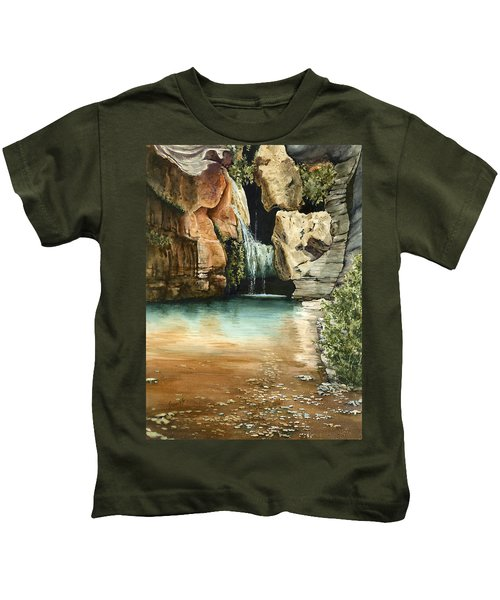 Green Falls II Kids T-Shirt