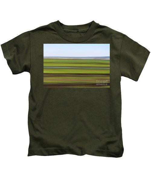 Green Field Abstract Kids T-Shirt