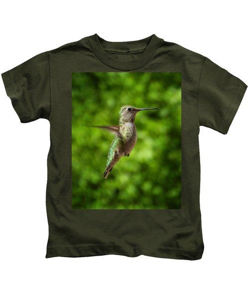 Green Hummingbird Kids T-Shirt