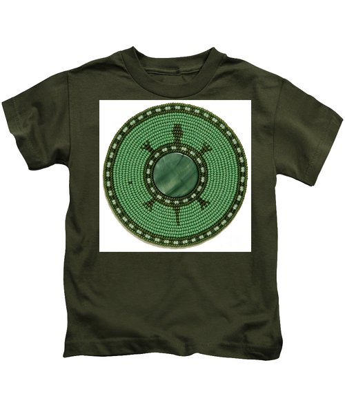 Green Shell Turtle Kids T-Shirt