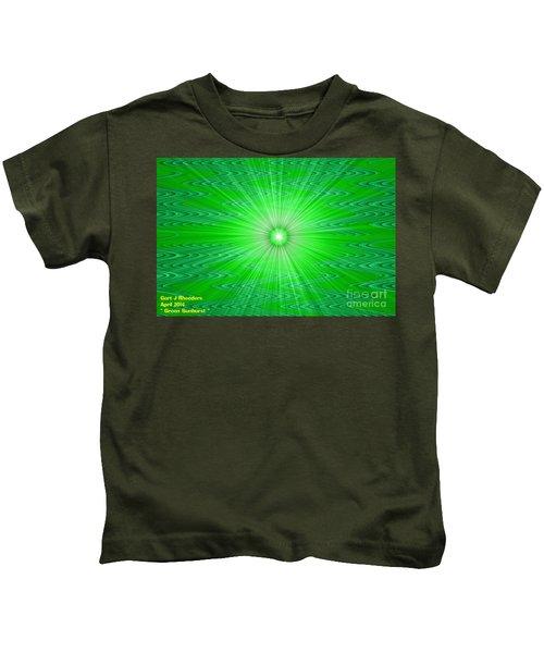 Green Sunburst H A Kids T-Shirt