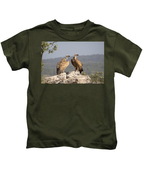 Griffon Vulture Pair Extremadura Spain Kids T-Shirt