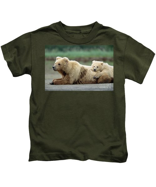 Grizzly Mother And Son Kids T-Shirt