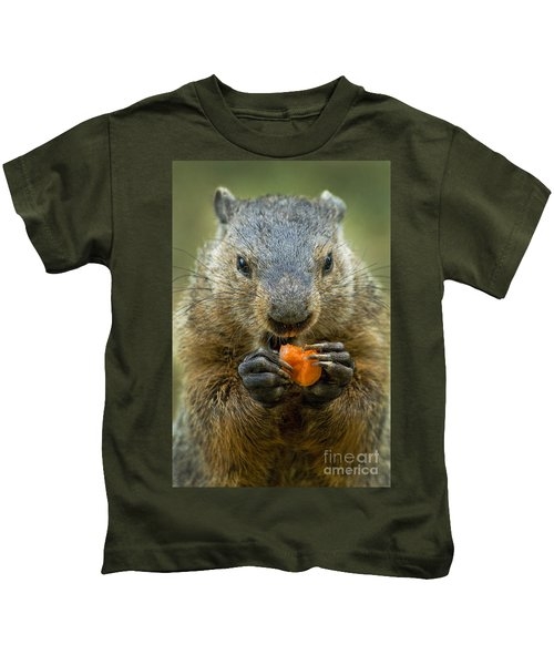 Groundhogs Favorite Snack Kids T-Shirt by Paul W Faust -  Impressions of Light