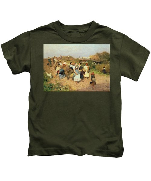 Harvesters On Their Way Home Kids T-Shirt