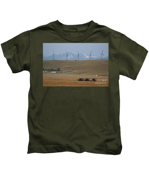 Harvesting Wind And Grain Kids T-Shirt
