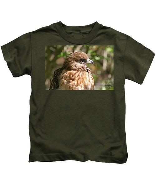 Hawk With An Attitude Kids T-Shirt