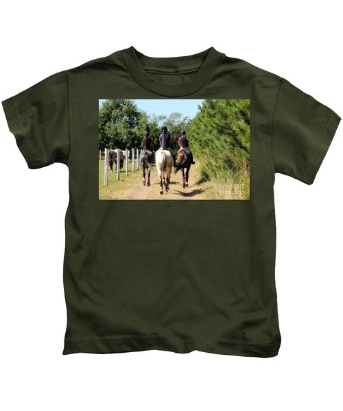 Heading To The Cross Country Course Kids T-Shirt