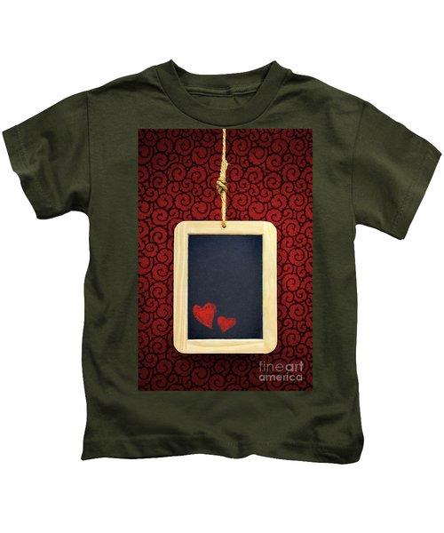 Hearts In Slate Kids T-Shirt
