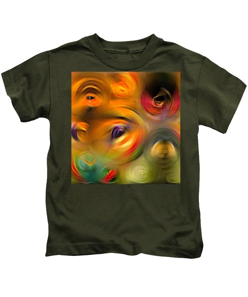 Heaven's Eyes - Abstract Art By Sharon Cummings Kids T-Shirt