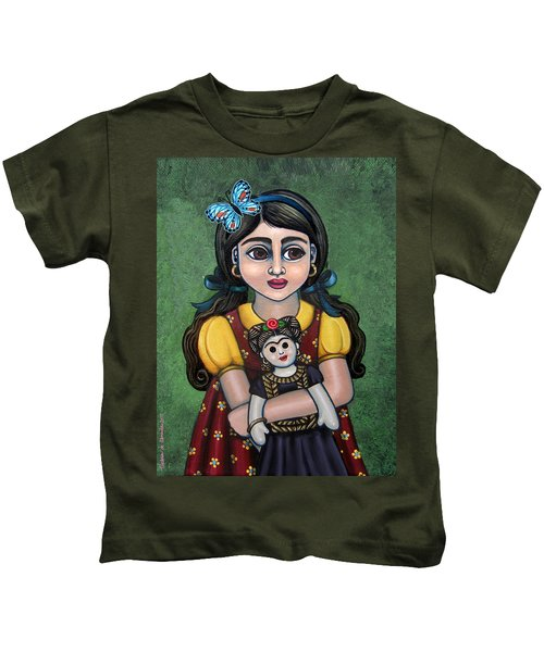 Holding Frida With Butterfly Kids T-Shirt