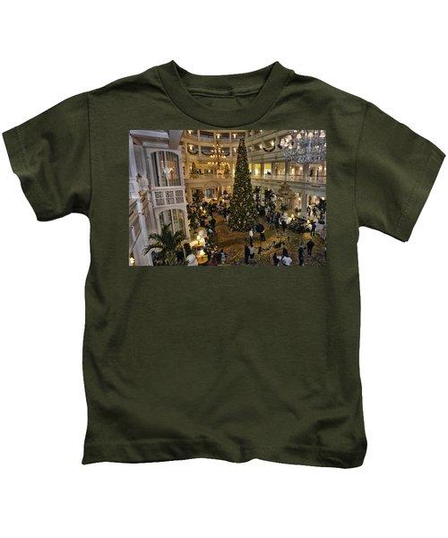 Holiday Time Panorama Walt Disney World Kids T-Shirt