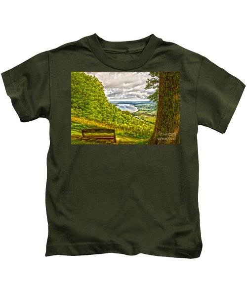Honeoye Lake Overlook Kids T-Shirt