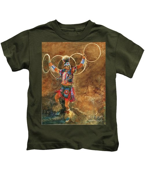 Hopi Hoop Dancer Kids T-Shirt
