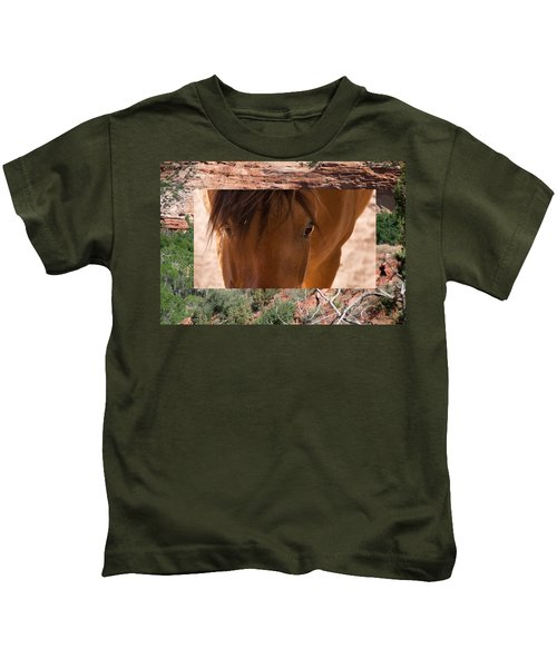 Horse And Canyon Kids T-Shirt