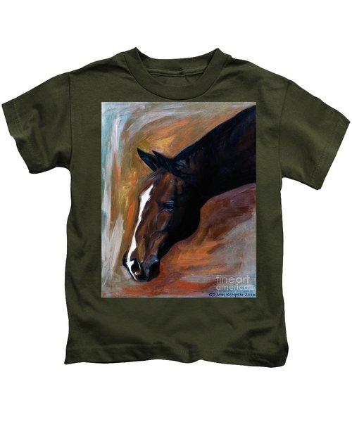 horse - Apple copper Kids T-Shirt