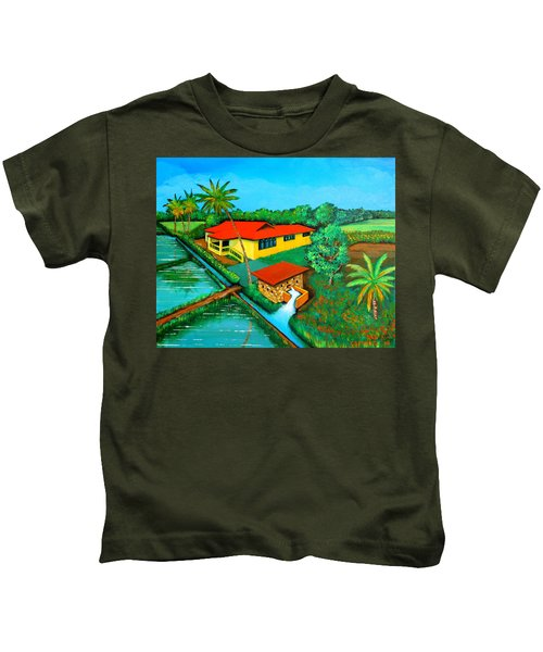 House With A Water Pump Kids T-Shirt