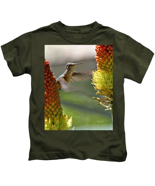 Hummingbird Feeding Kids T-Shirt
