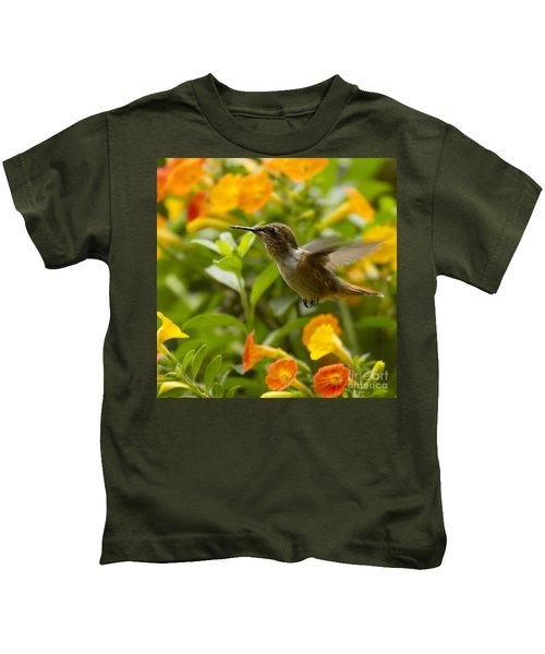 Hummingbird Looking For Food Kids T-Shirt