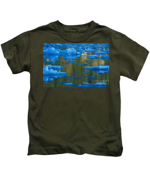 Icebergs, Leconte Bay, Alaska Kids T-Shirt