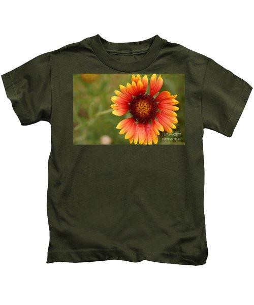 Indian Blanket Flower Kids T-Shirt