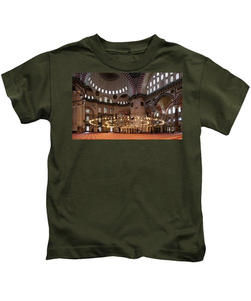 Interior Of The Suleymaniye Mosque Kids T-Shirt