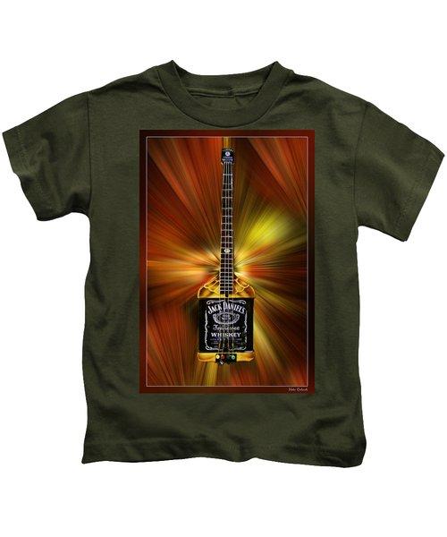 Jack Daniels Whiskey Guitar Kids T-Shirt
