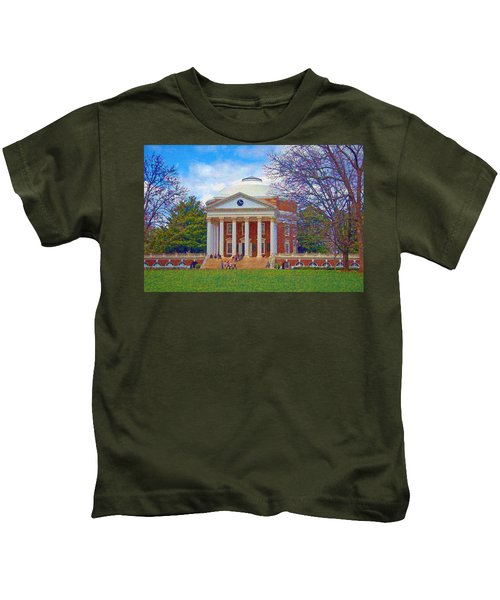 Jefferson's Rotunda At Uva Kids T-Shirt