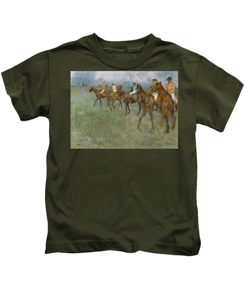 Jockeys In The Rain, 1886 Kids T-Shirt