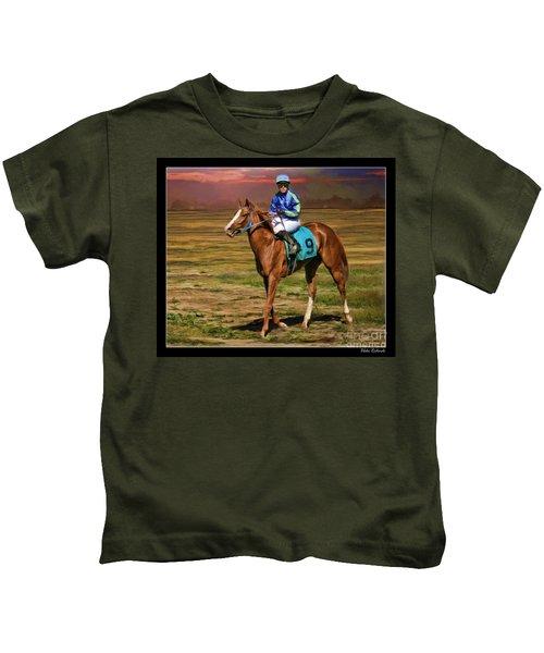 Juan Hermandez On Horse Atticus Ghost Kids T-Shirt