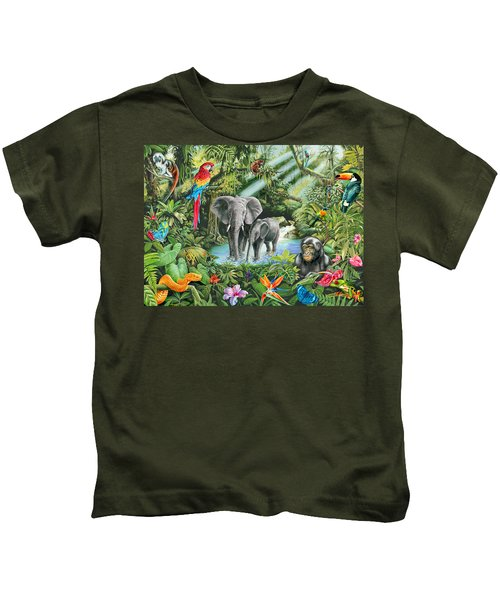 Jungle Kids T-Shirt by Mark Gregory