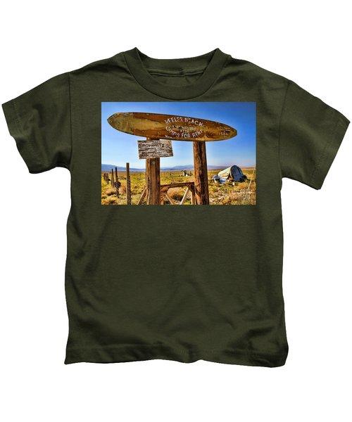 Keeler Beach Camping By Diana Sainz Kids T-Shirt