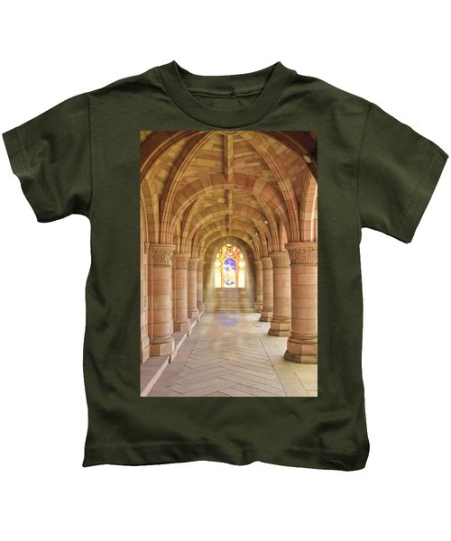 Kelso Abbey Stained Glass Kids T-Shirt