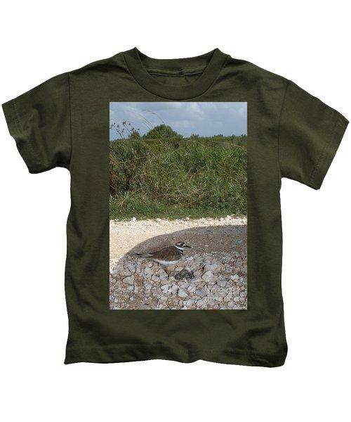 Killdeer Defending Nest Kids T-Shirt