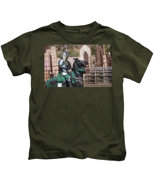 Knight And His Horse Kids T-Shirt