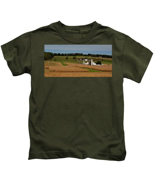 Kids T-Shirt featuring the photograph Lancaster County Farm by William Jobes