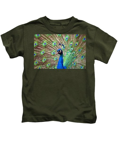 Landscape Peacock Kids T-Shirt