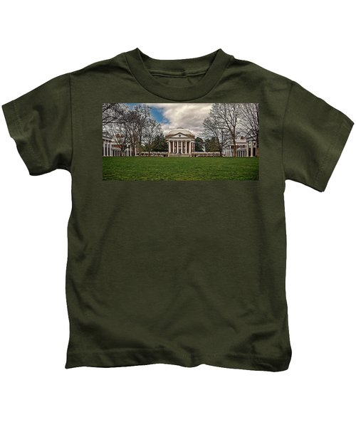 Lawn And Rotunda At University Of Virginia Kids T-Shirt