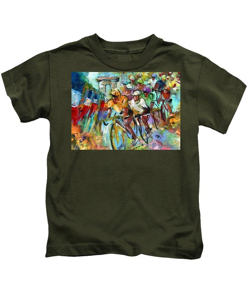 Le Tour De France Madness 02 Kids T-Shirt