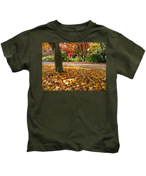 Leaves And More Leaves Kids T-Shirt