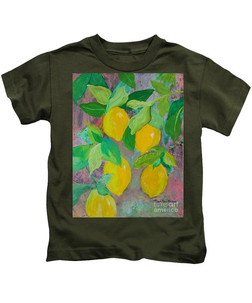 Lemons On Lemon Tree Kids T-Shirt