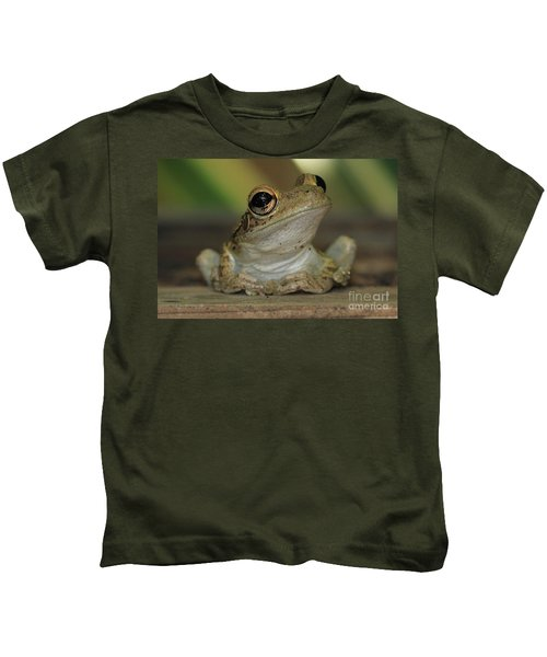Let's Talk - Cuban Treefrog Kids T-Shirt