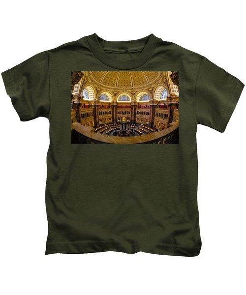 Library Of Congress Main Reading Room Kids T-Shirt