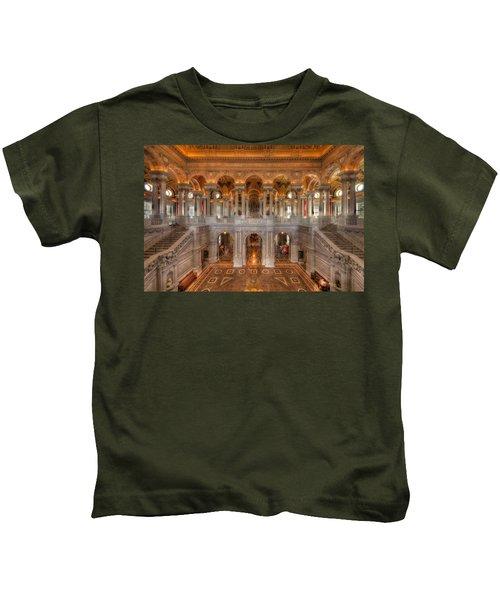Library Of Congress Kids T-Shirt by Steve Gadomski