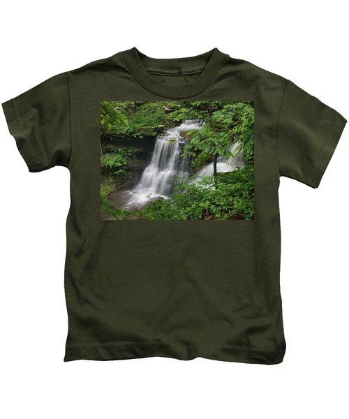 Lichen Falls Ozark National Forest Kids T-Shirt