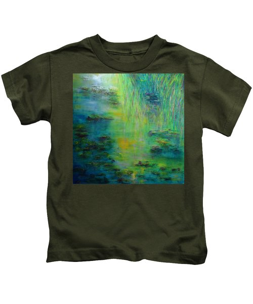 Lily Pond Tribute To Monet Kids T-Shirt