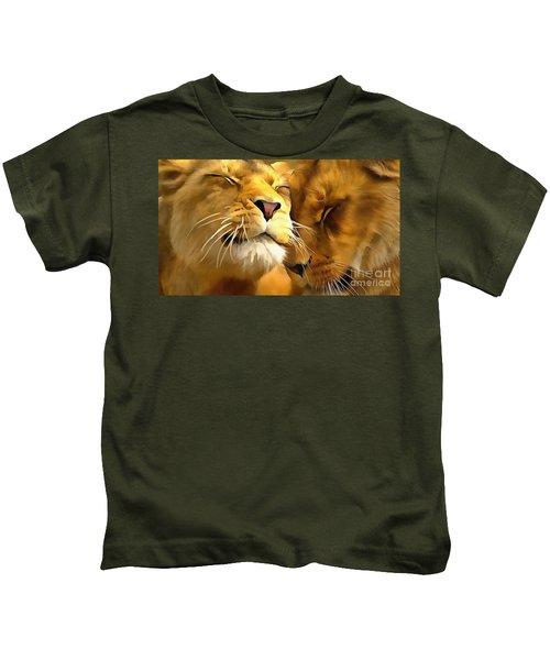 Lions In Love Kids T-Shirt